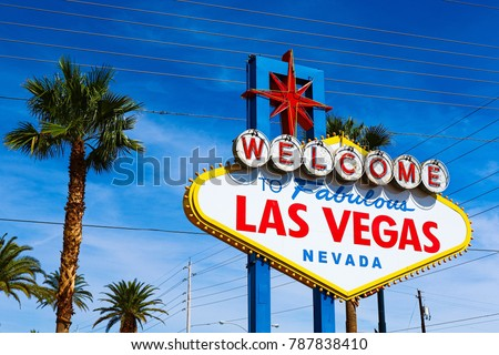 The Welcome to Fabulous Las Vegas sign on bright sunny day in Las Vegas #787838410