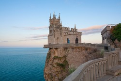 The well-known castle Swallow's Nest near Yalta. Crimea, Ukraine