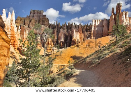 The well-known orange rocks in Bryce canyon in state of Utah. More magnificent pictures from the American and Canadian National parks you can look hundreds in my portfolio. Welcome!