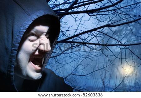 The werewolf in forest