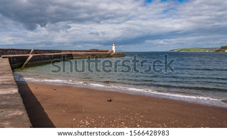 The West Pier and the West Pier Lighthouse in Whitehaven, Cumbria, England, UK #1566428983