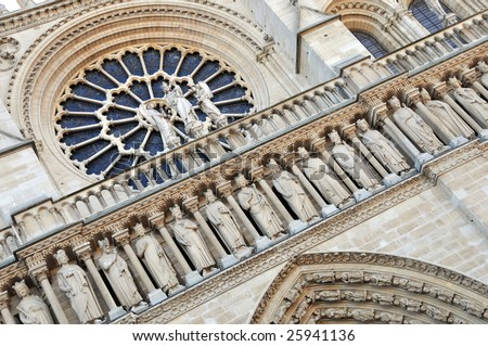 The Western Facade And West Rose Window Of The Gothic Cathedral ...