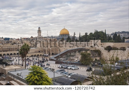 The Western Wall,Temple Mount, Jerusalem, Sunset