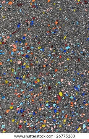 The wet asphalt of different colors as background
