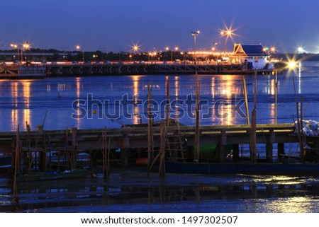 The wharf in the twilight time