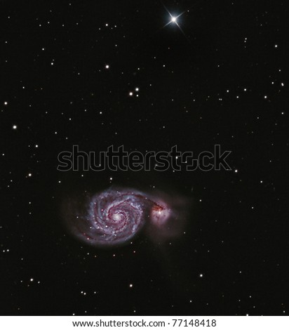 The Whirlpool Galaxy, M51, Lord Rosse's Nebula