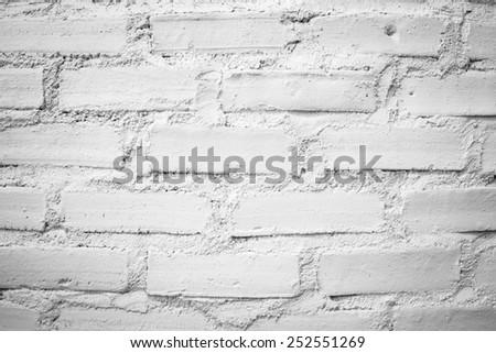 The white brick texture wall
