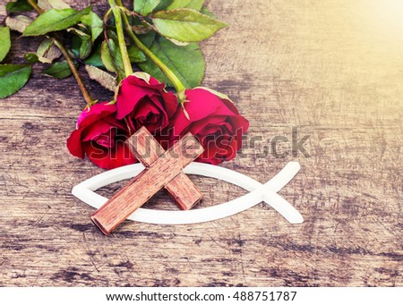 Free Photos Old Bible Red Rose And Holy Cross Avopix