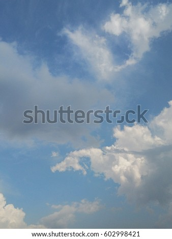 the white clouds and blue sky background  #602998421