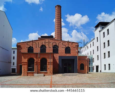 The White Factory, presently the seat of the Central Museum of Textiles, Lodz, Poland #445665115