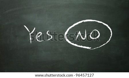 the white false symbol in the blackboard
