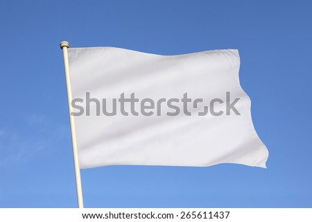 The white flag is an internationally recognized symbol of surrender, truce, or a desire to parley. #265611437