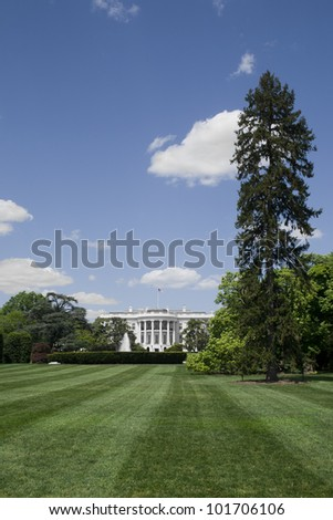 The White House at Washington DC with copy-space