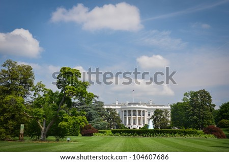 The White House in a cloudy day - Washington DC, United States