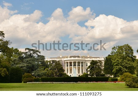 The White House in a cloudy summer day - Washington DC United States