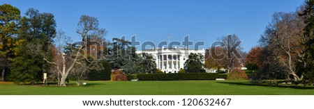 The White House in autumn - Washington DC United States