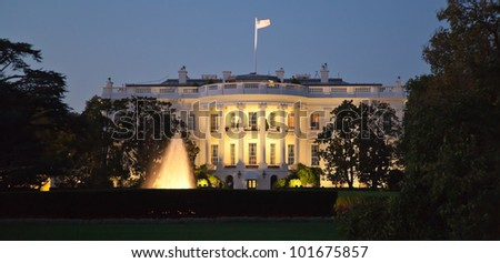 The White House in Washington D.C. at the night