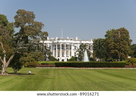 The White House in Washington D.C., the South Gate - stock photo