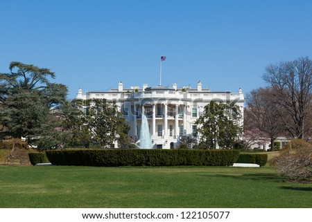 The White House in Washington DC , United States - stock photo