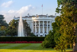 The White House on a beautiful summer evening, Washington, DC.