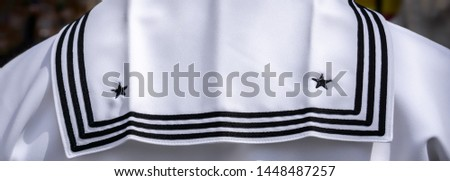 The white jumper of a US Navy sailor in Japan. #1448487257