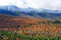 The White Mountains of New Hampshire in the fall, USA