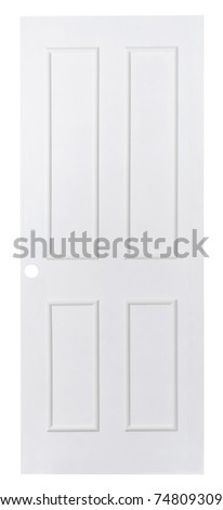 The white plain leaf door nice for putting others color into it
