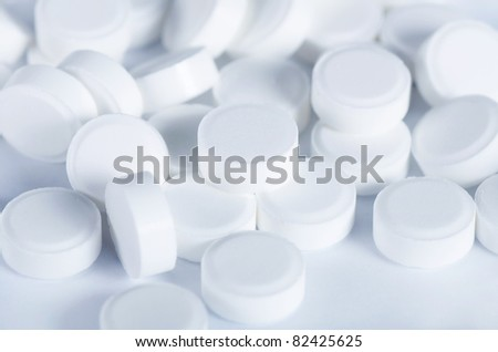 The white tablets - abstract medical background