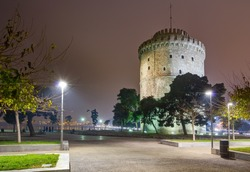 The White Tower at night, Thessaloniki, Greece