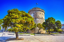 The White Tower in Thessaloniki, Greece