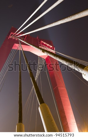 The Willemsbridge, A famous bridge in Holland, spanning the 'Nieuwe Maas' in Rotterdam, Holland