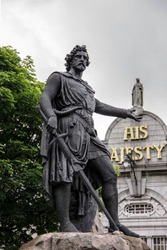 The William Wallace Statue in Aberdeen, Scotland, UK. The statue bears this inscription: I tell you a truth, liberty is the best of all things, my son, never live under any slavish bond.