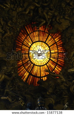 The window of a cathedral of St. Peter in Vatican
