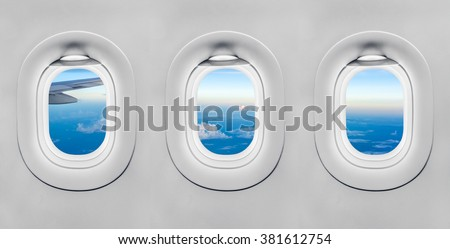 The window of airplane #381612754