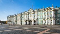 The Winter Palace in Saint-Petersburg, Russia, was the official residence of the Russian monarchs. Today, the restored palace forms part of a complex of buildings housing the Hermitage Museum