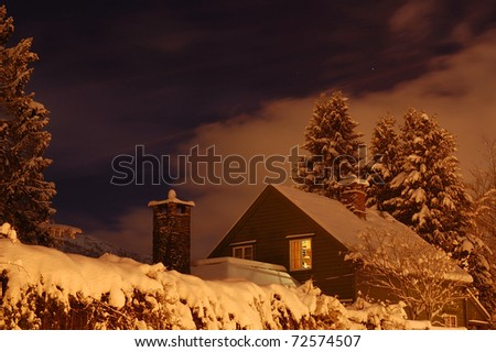 the winter scene in nordic country