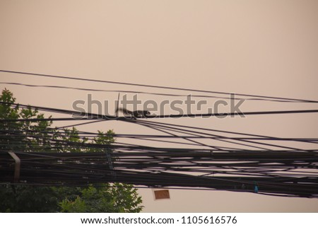 The wires are made of substances that allow the electricity to pass through. Referred to as conductor And electric conductors used to make the wire is a metal that allows electricity to pass through w #1105616576