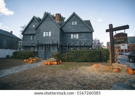 The Witch House. Salem, Massachusetts, USA. Stock fotó ©