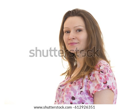 the woman's portrait with long...