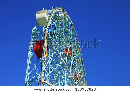 The Wonder Wheel in Coney Island New York City