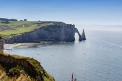 The wonderful coast line at Etretat, France