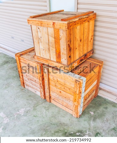 The wood box for design or decorate project.