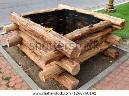 the wood overlap made it a square shape hole #1268760142
