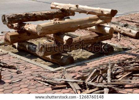 the wood overlap made it a square shape hole #1268760148