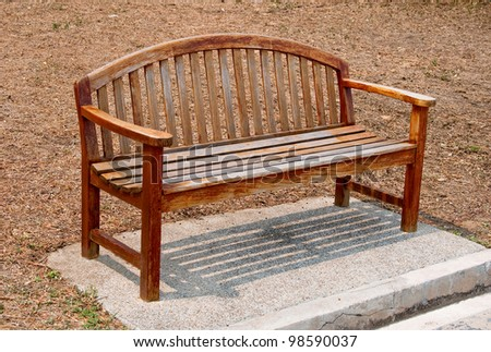 The Wooden bench - stock photo