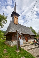 The wooden church from Goiești , Vidra commune , Alba county , dates from the 18th century. It is dedicated to the