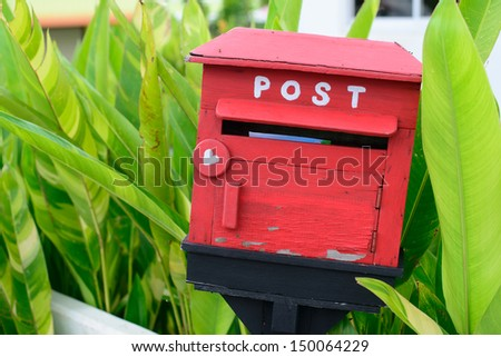 The wooden mail box
