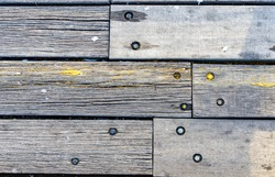 The wooden planks of the causeway in victor harbor south australia