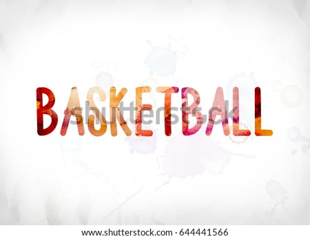 the word basketball concept and theme painted in colorful