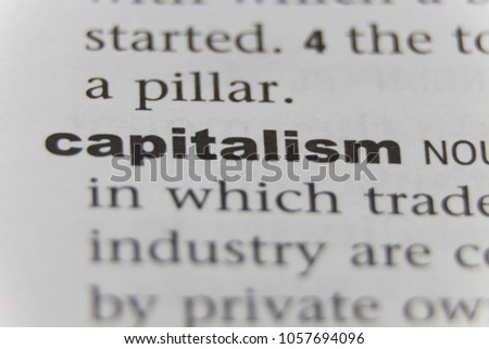 The Word Capitalism Close Up